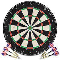 vidaXL Profesjonalna, sizalowa tarcza do darta z 6 rzutkami