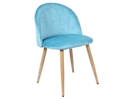 Krzesło tapicerowane Jazz Velvet morski