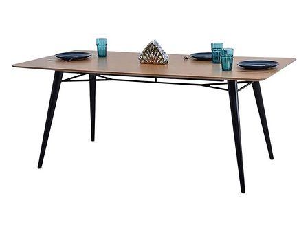 Stół Miletto dąb-czarny 180x90 cm do stylowej kuchni