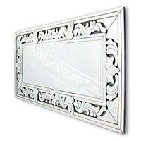 ALEXANDRE white Oud - prostokątne lustro dekoracyjne w ramie lustrzanej