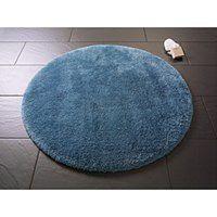 Niebieski okrągły dywanik łazienkowy Confetti Bathmats Miami, ⌀ 100 cm