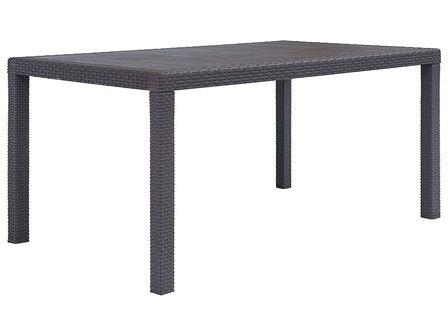 vidaXL Stół ogrodowy, 150x90x72 cm, plastikowy, brązowy