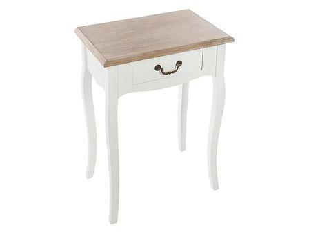 Stolik przyłóżkowy z drewna, szafka nocna o klasycznym designie