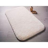 Biały dywanik łazienkowy Confetti Miami, 67x120 cm