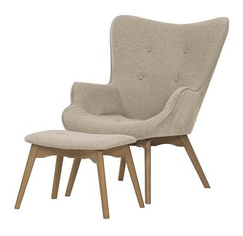 Fotel uszak z podnóżkiem Ducon Malmo
