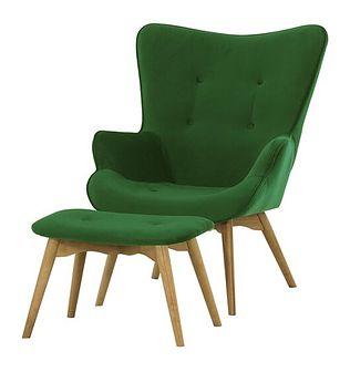 Fotel z podnóżkiem Ducon Velvet