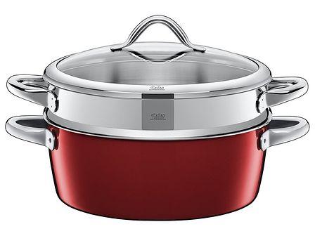 Silit Vitaliano Rosso 28cm patelnia do gotowania na parze 5,9l