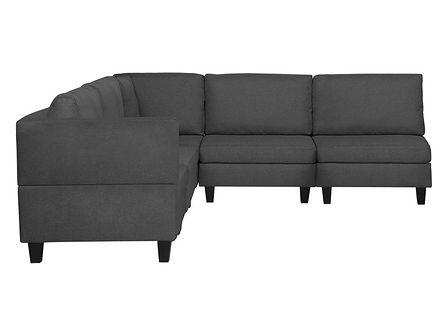 Sofa narożna tapicerowana ciemnoszara FEVIK