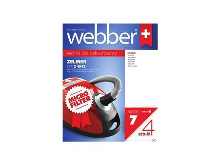 WEBBER Worki do odkurzaczy micro ZELMER 4942 PLASTIK (CZ) 4 szt.