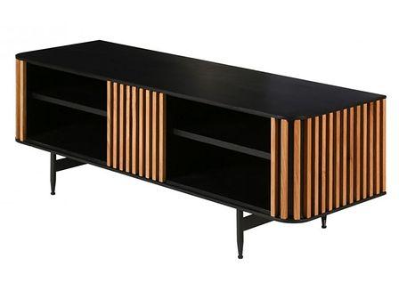 Szafka rtv Linea, Rozmiar: 130 x 42 x 43 cm Kolor: drewno Materiał: drewno