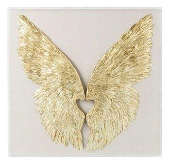 Dekoracja ścienna Wings 120x120 cm złota