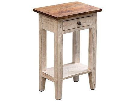 Stolik La Fleur 33x51 cm drewniany