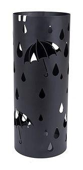 Stojak na parasole Rain metalowy czarny na planie koła
