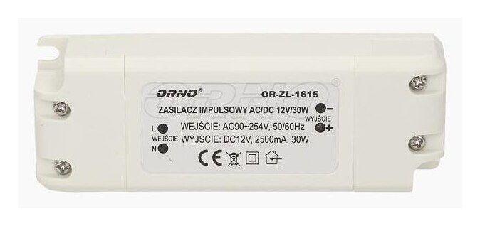 Zasilacz do LED 12V, 30W, IP20, OR-ZL-1615 Orno