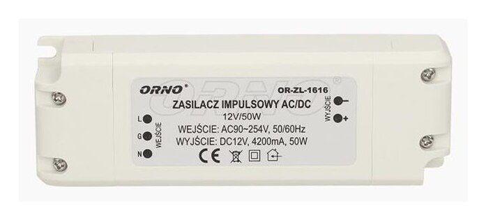 Zasilacz do LED 12V, 50W, IP20, OR-ZL-1616 Orno
