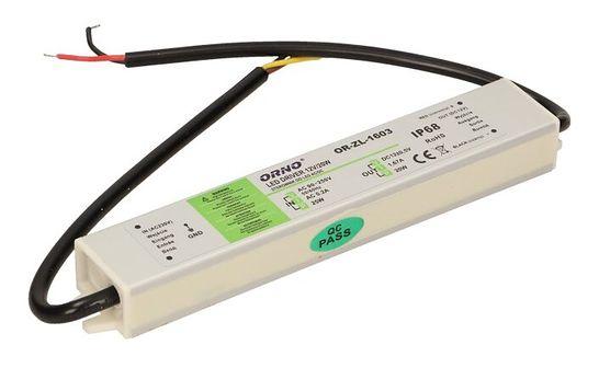 Zasilacz do LED DC12V, 20W, IP67, OR-ZL-1603, Orno