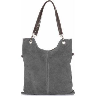 Shopper bag Genuine Leather szary