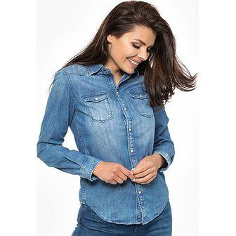 Koszula damska Pepe Jeans niebieski