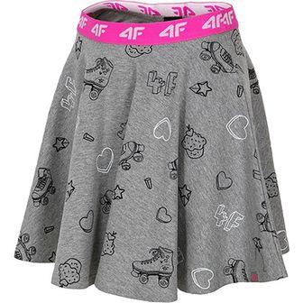 Spódnica dziewczęca 4f Junior szary
