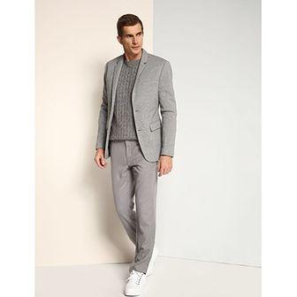 Spodnie męskie Top Secret srebrny