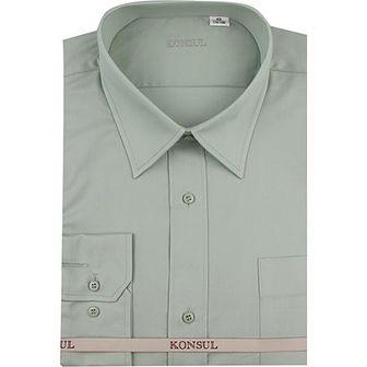 Koszula męska Konsul gładka z długim rękawem elegancka z tkaniny