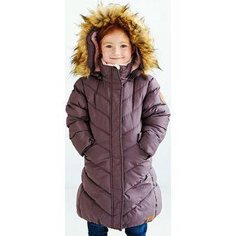 Nativo Kids kurtka dziewczęca w nadruki na zimę