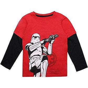 T-shirt chłopięce Star Wars z długim rękawem