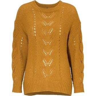 Freequent sweter damski żółty