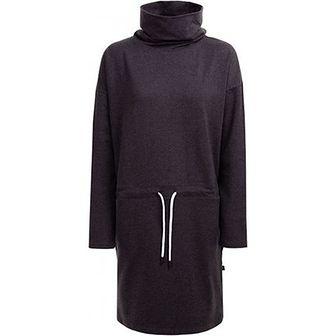 Granatowa sukienka Outhorn z golfem