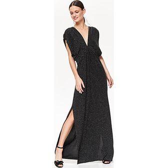 Sukienka Top Secret prosta bez wzorów na karnawał z dekoltem w literę v z krótkim rękawem