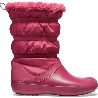3213735a Śniegowce damskie różowe Crocs casual bez zapięcia