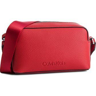 Listonoszka Calvin Klein czerwona mała bez dodatków młodzieżowa