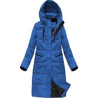 Płaszcz damski Ljr niebieski