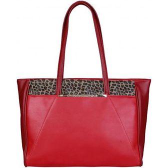 Shopper bag Cavalli Class bez dodatków na ramię duża