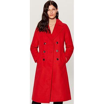 Płaszcz damski czerwony Mohito