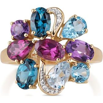 Wielokolorowy pierścionek W.Kruk