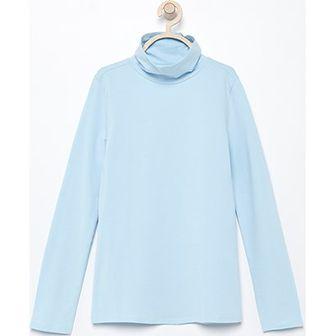 Bluzka dziewczęca Reserved niebieska bez wzorów