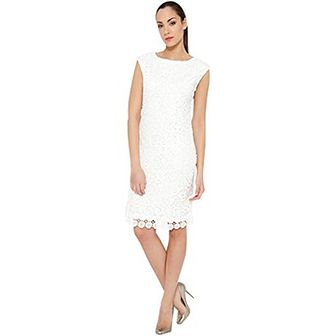 Sukienka Tantra z okrągłym dekoltem midi wiosenna elegancka