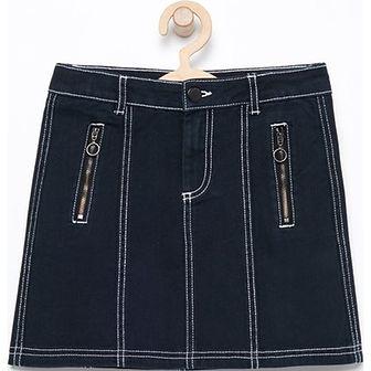 Reserved spódnica dziewczęca niebieska gładka