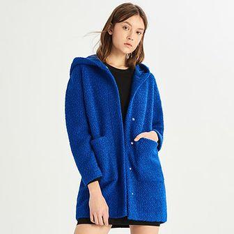 Płaszcz damski niebieski Sinsay
