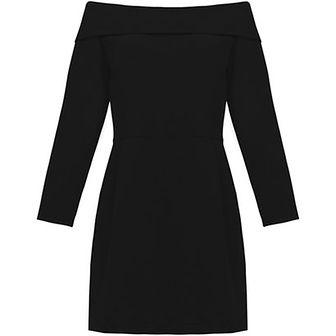 Sukienka czarna Risk Made In Warsaw z długim rękawem z poliestru na spacer