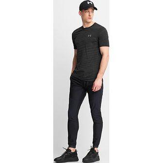 Koszulka sportowa Under Armour z elastanu granatowa bez wzorów