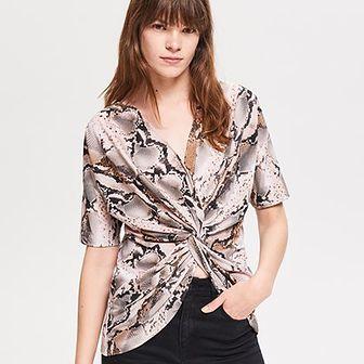Bluzka damska Reserved młodzieżowa z krótkim rękawem