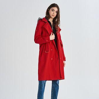 Płaszcz damski czerwony Sinsay