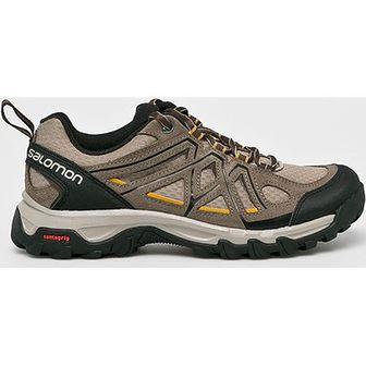 Buty trekkingowe męskie Salomon sportowe skórzane wiązane