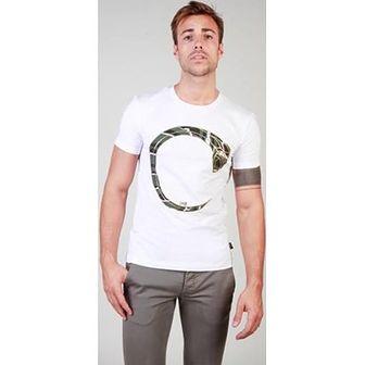 T-shirt męski Datch biały z krótkim rękawem
