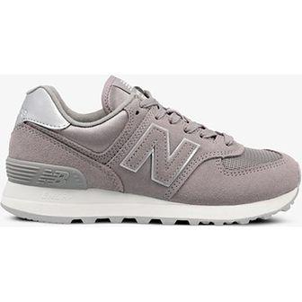 Buty sportowe damskie New Balance do biegania wiosenne na koturnie bez wzorów