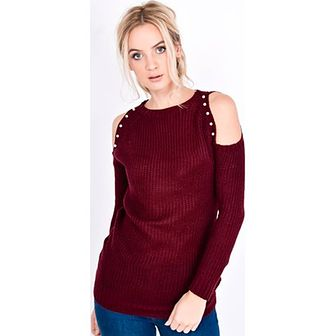 Sweter damski Zoio bez wzorów z okrągłym dekoltem