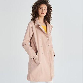 Płaszcz damski różowy Sinsay