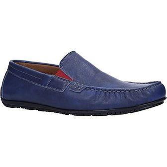 Windssor mokasyny męskie niebieskie casual bez zapięcia